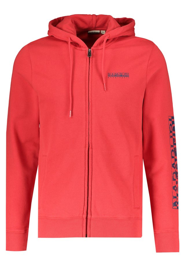 "NAPAPIJRI HERREN SWEATJACKE ""BOLANOS FZH"" - Zip-up hoodie - red"