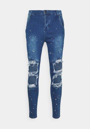 RIOT BIKER - Jeans Skinny Fit - midstone