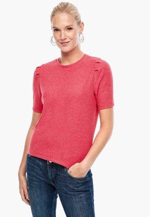 Basic T-shirt - light red melange