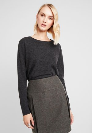SLFAYA O NECK - Sweter - dark grey melange