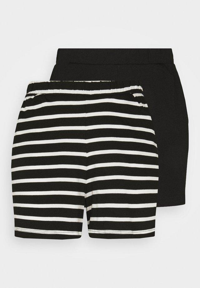 ONLMAY LIFE 2 PACK - Shorts - black/cloud dancer