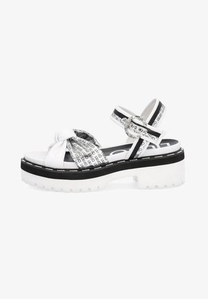 WITH LOGO - Platform sandals - white