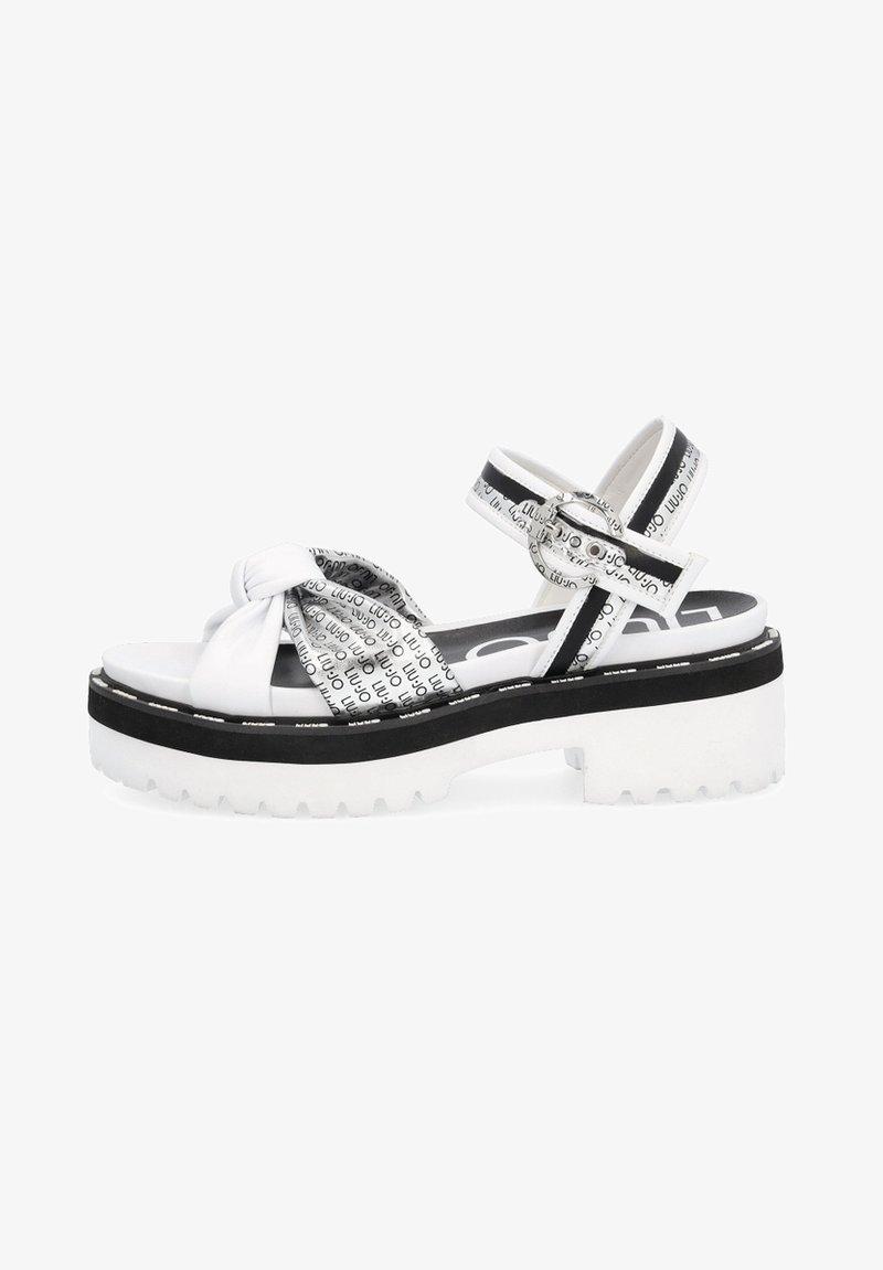 LIU JO - WITH LOGO - Sandály na platformě - white