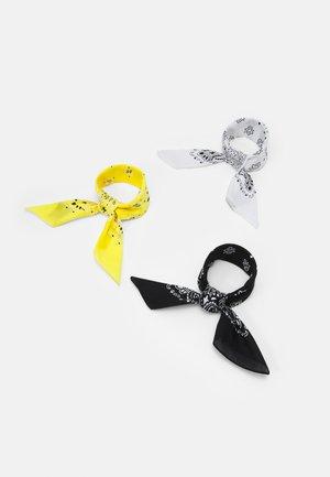 BANDANA 3 PACK UNISEX - Scarf - black/yellow/white