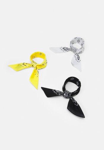 BANDANA 3 PACK UNISEX - Foulard - black/yellow/white