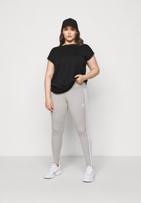 adidas Originals - STRIPES TIGHT - Leggings - Trousers - grey/white - 1