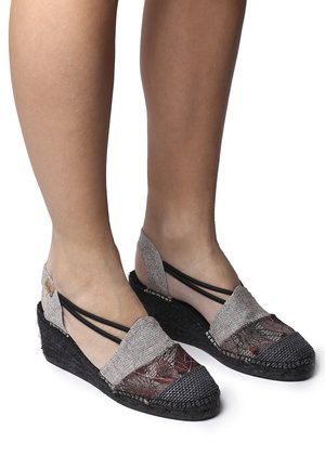 TOURS - Wedge sandals - black