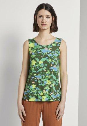 TOM TAILOR DENIM T-SHIRT GEMUSTERTES TOP AUS JERSEY - Top - green flower print