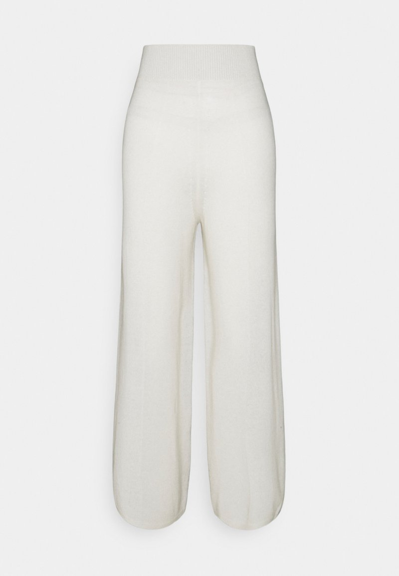 pure cashmere - LOOSE FIT PANTS - Trousers - ivory