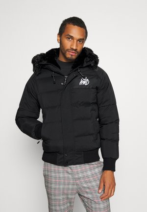 PUFFER BOMBER JACKET - Winter jacket - black