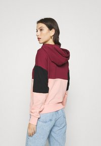 Fila - SANJA CROPPED HOODY - Hoodie - tawny port/black/coral cloud - 2