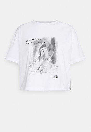CROP TEE - Print T-shirt - white