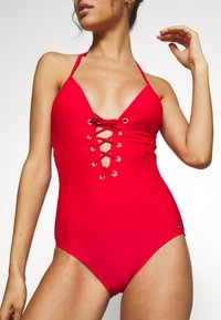Bruno Banani - SWIMSUIT LOU - Plavky - red - 4