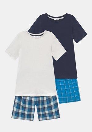 CHECK SHORT 2 PACK - Pyjama set - blue