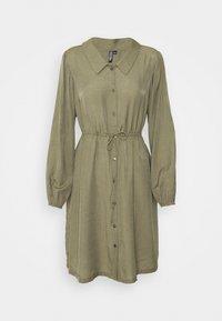 PCFRAYSON SHIRT DRESS - Shirt dress - deep lichen green