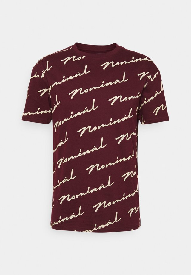 REPEAT - T-shirt print - burgundy