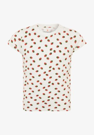 STRAWBERRY GRAPHIC TEE - Print T-shirt - ivory/red