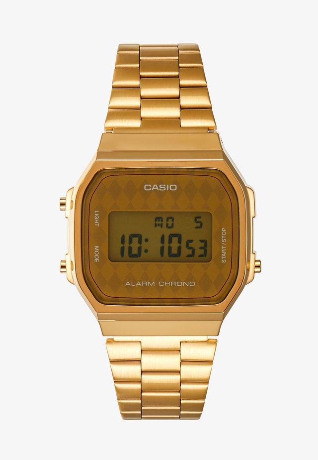 Digitální hodinky - gold-coloured