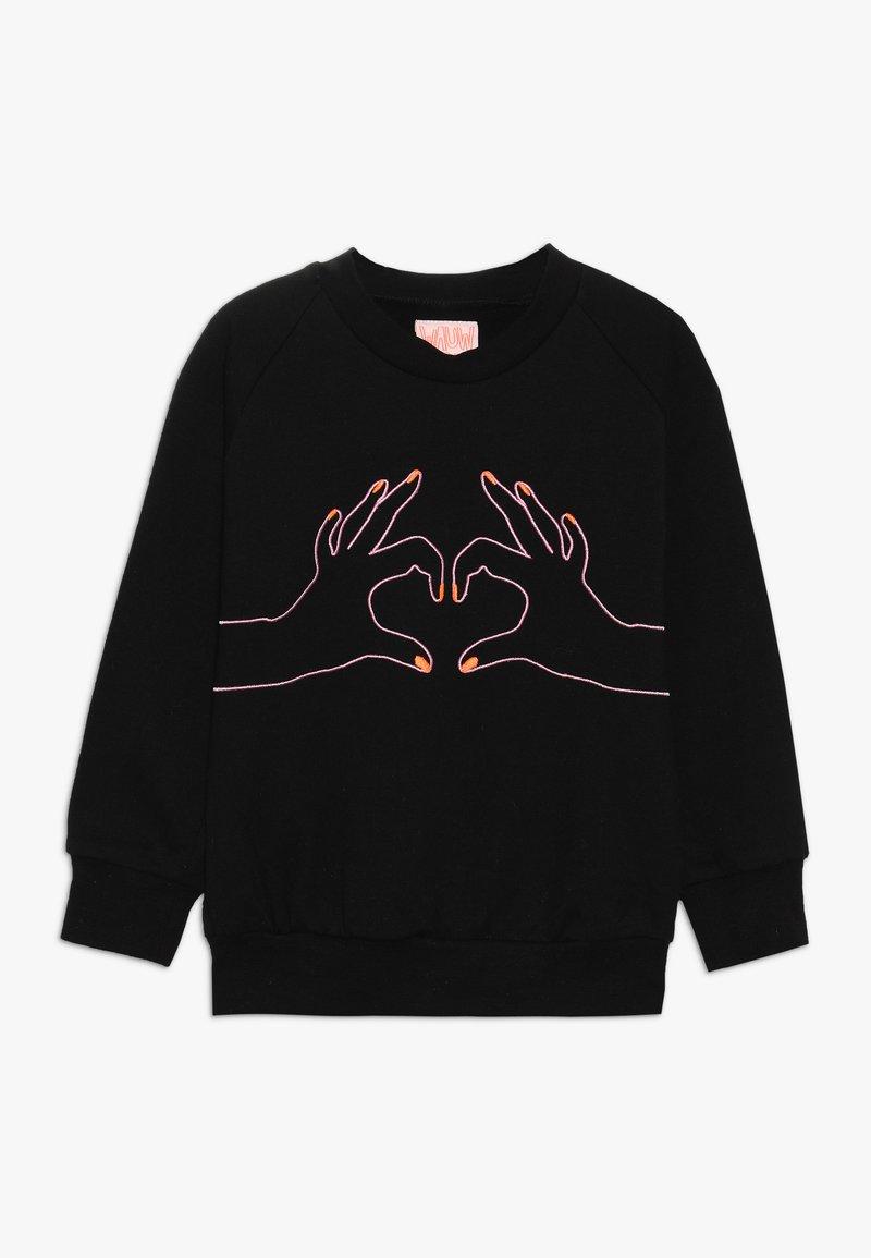 WAUW CAPOW by Bangbang Copenhagen - LOVE - Sweatshirt - black