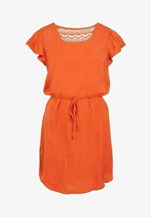 Day dress - burnt ochre