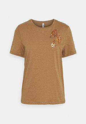 ONLKITA LIFE LEAF BOX - Print T-shirt - toasted coconut/midi leaves