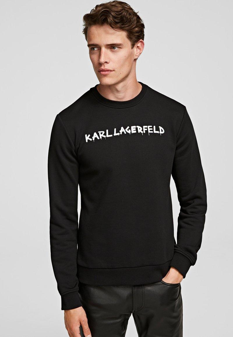 KARL LAGERFELD - GRAFFITI - Sweatshirt - black
