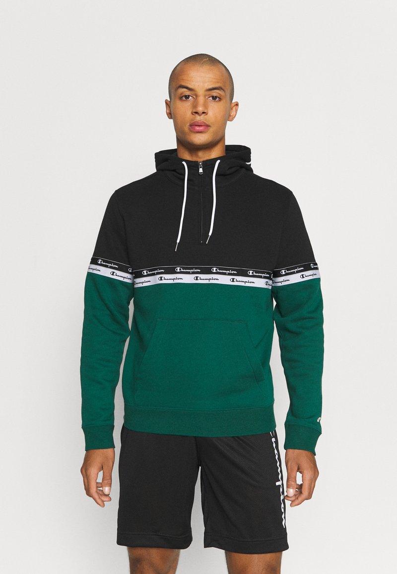 Champion - HOODED - Hoodie - green/black