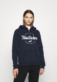 Hollister Co. - TECH CORE - Zip-up hoodie - navy - 0