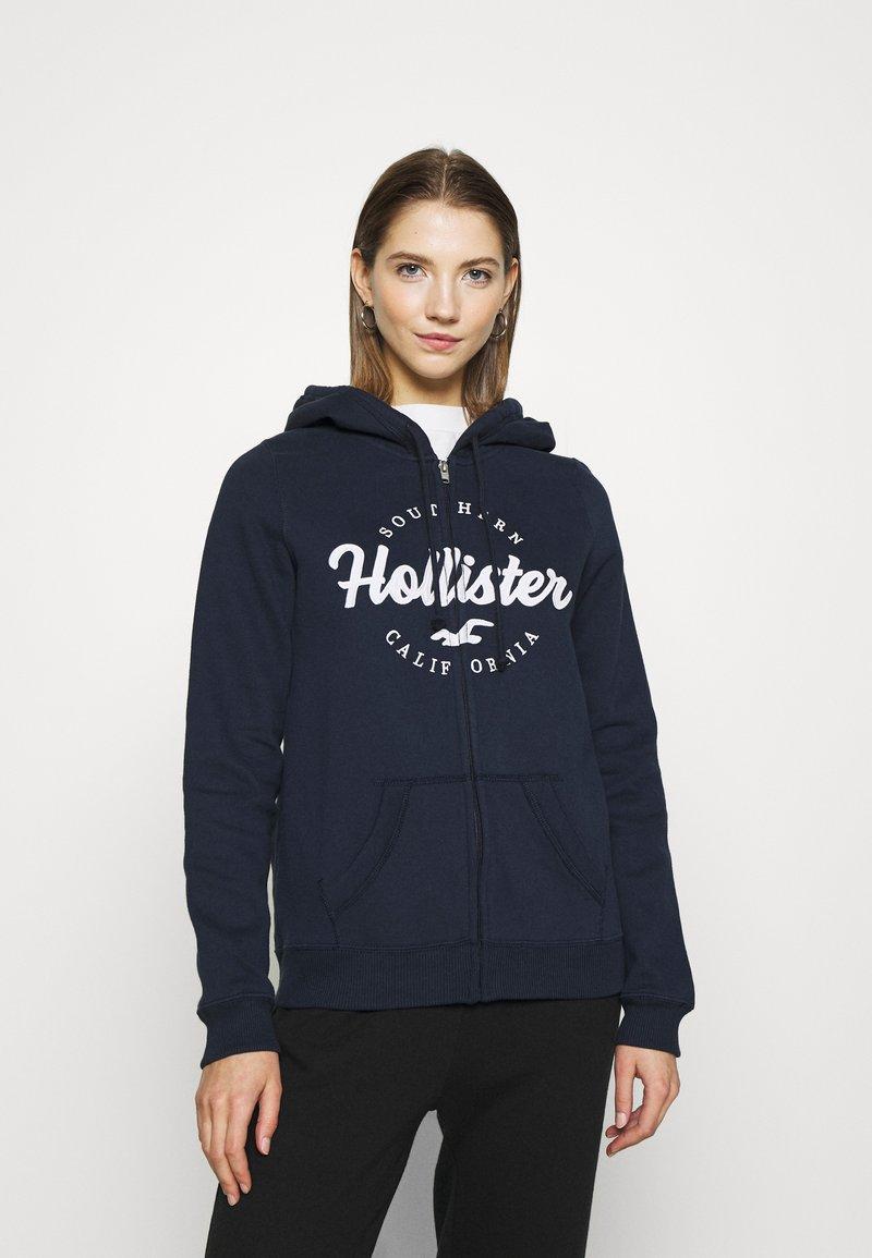 Hollister Co. - TECH CORE - Tröja med dragkedja - navy