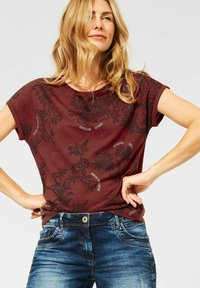 Cecil - Print T-shirt - braun - 0