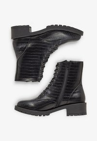Bianco - BIACLAIRE - Lace-up ankle boots - black - 5