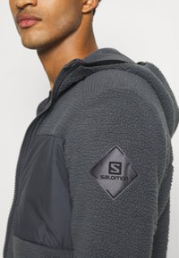 Salomon - SNOWSHELTER TED HOODIE - Fleece jacket - ebony - 5