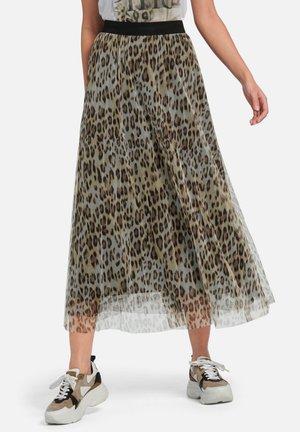 A-line skirt - beige/braun
