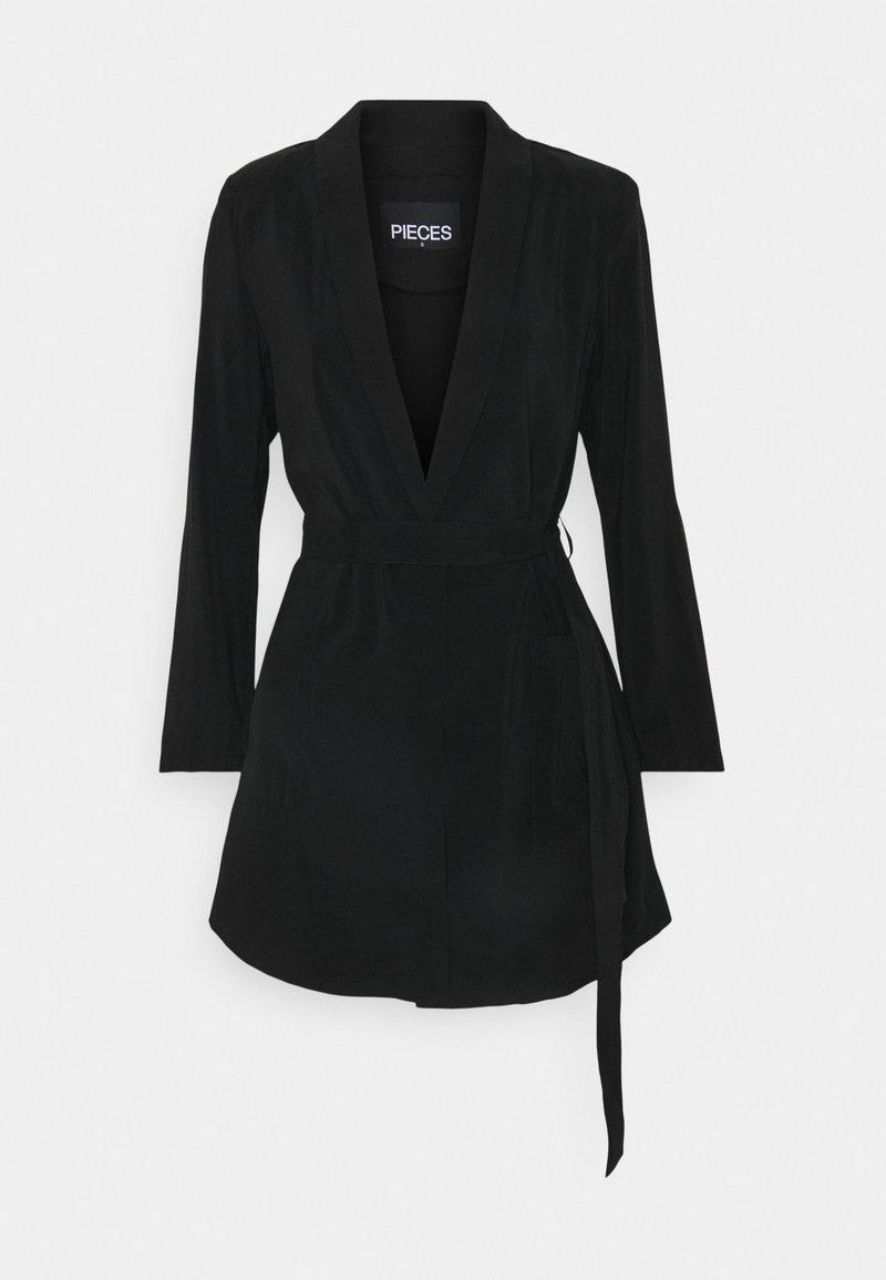 Pieces - PCCALIA COATIGAN - Short coat - black