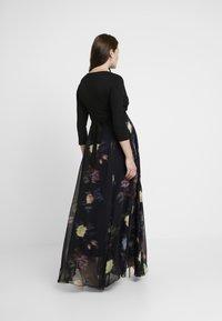 Seraphine - PETUNIA WRAP NURSING GOWN - Maxi dress - black - 3