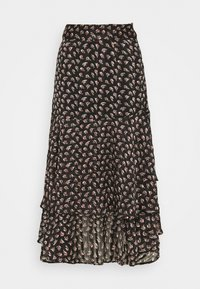 Scotch & Soda - MIDI SKIRT IN SHEER STRIPE QUALITY - A-lijn rok - black - 0
