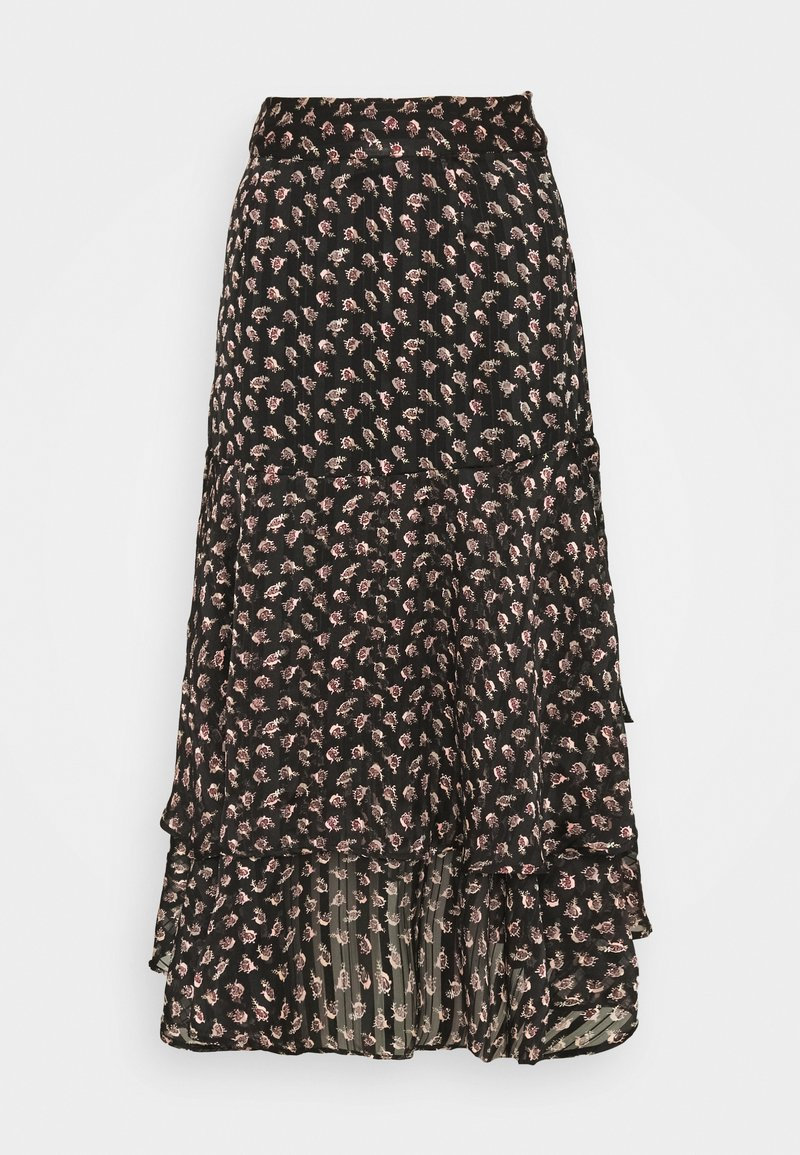 Scotch & Soda - MIDI SKIRT IN SHEER STRIPE QUALITY - A-lijn rok - black