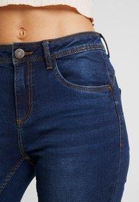 Noisy May - NMJEN SHAPER - Jeansy Skinny Fit - dark blue denim - 3