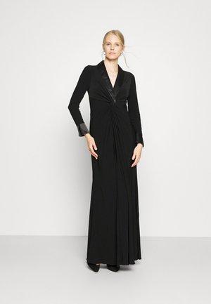 TWIST TUXEDO GOWN - Jersey dress - black