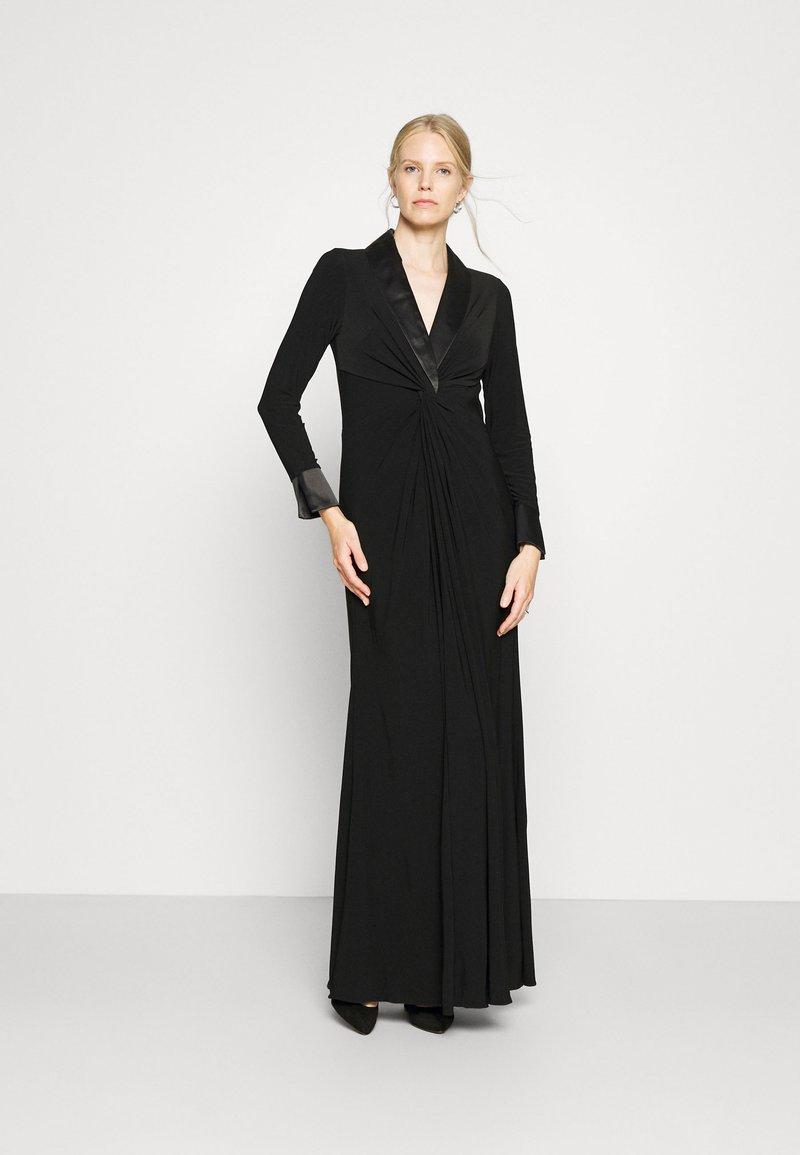 Adrianna Papell - TWIST TUXEDO GOWN - Jersey dress - black