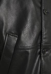 Weekday - UNISEX NELSON COAT - Faux leather jacket - black - 2