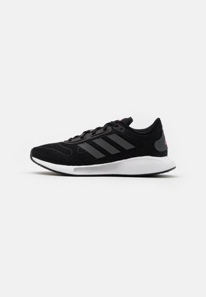 GALAXAR RUN - Neutral running shoes - core black/grey five/signal pink