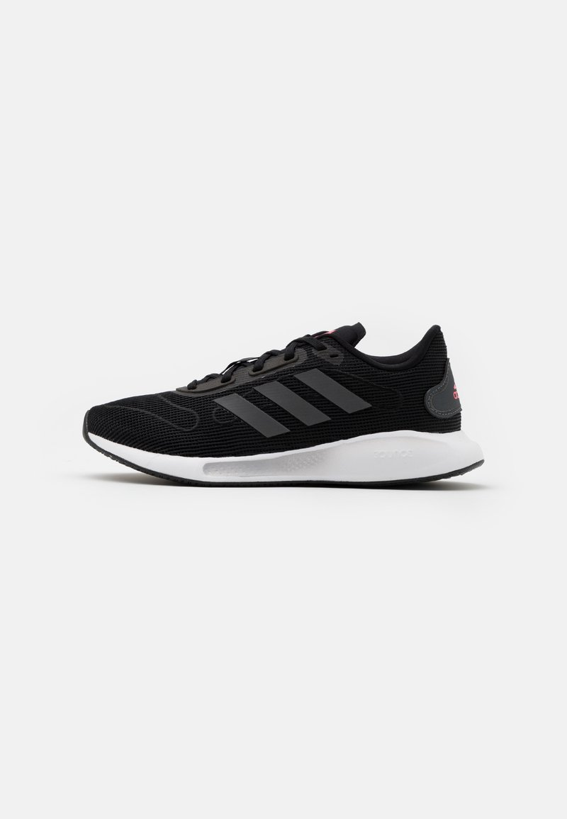 adidas Performance - GALAXAR RUN - Neutral running shoes - core black/grey five/signal pink