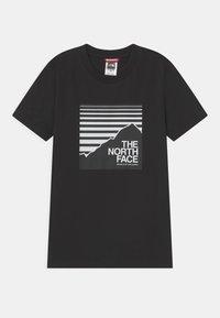 The North Face - BOX TEE UNISEX - Print T-shirt - black - 0