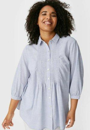 Overhemdblouse - white  light blue