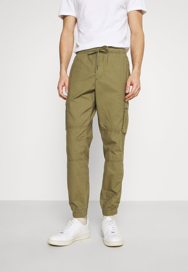 JOGGER - Cargo trousers - green khaki