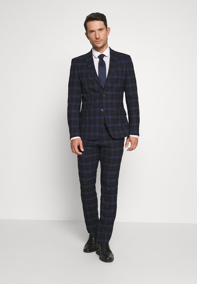 CHECK SUIT - Jakkesæt - dark blue