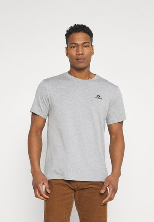EMBROIDERED STAR LEFT CHEST TEE - Basic T-shirt - grey