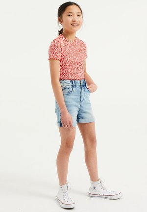 Jeans Short / cowboy shorts - light blue