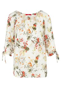 s.Oliver - IM LAYER-LOOK - Blouse - cream flowers aop - 0